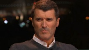 Roy Keane watches Georgia's 2009 Eurovision Song Contest entry in disbelief.